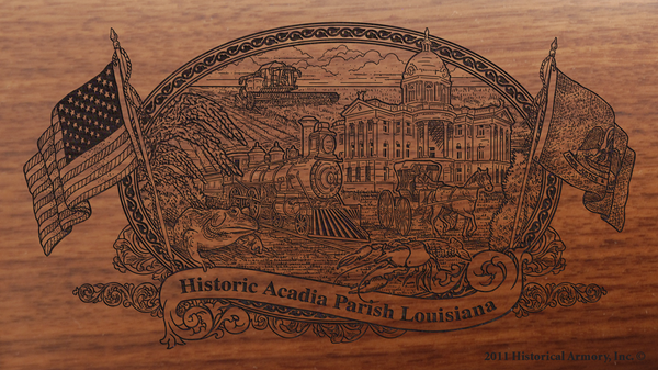 Acadia Parish Louisiana Engraved Rifle