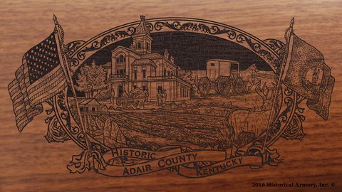 Adair County Kentucky Engraved Rifle