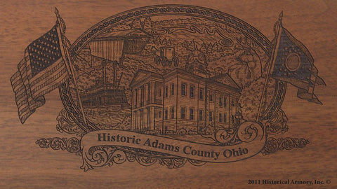adams county ohio engraved rifle buttstock