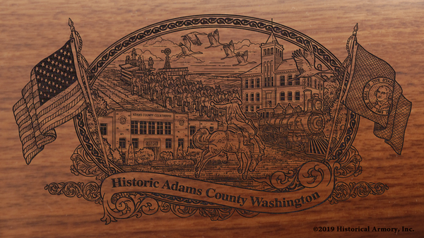 Adams County Washington Engraved Rifle