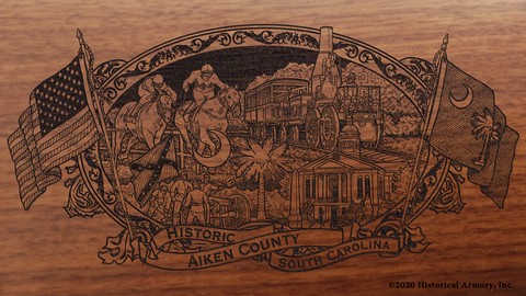 Aiken County South Carolina Engraved Rifle