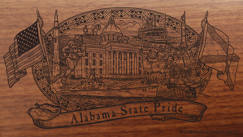 Alabama State Pride Engraved Rifle