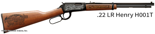 alaska state engraved rifle h001t