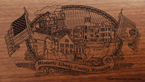 Albany County Wyoming Engraved Rifle