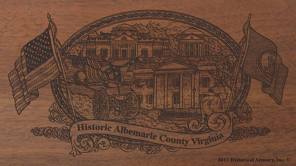 albemarle county virginia engraved rifle buttstock