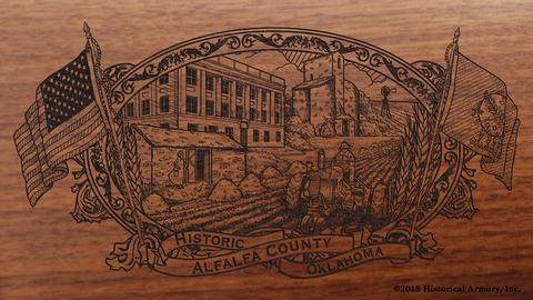 Alfalfa County Oklahoma Engraved Rifle