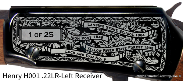 Allamakee County Iowa Engraved Rifle