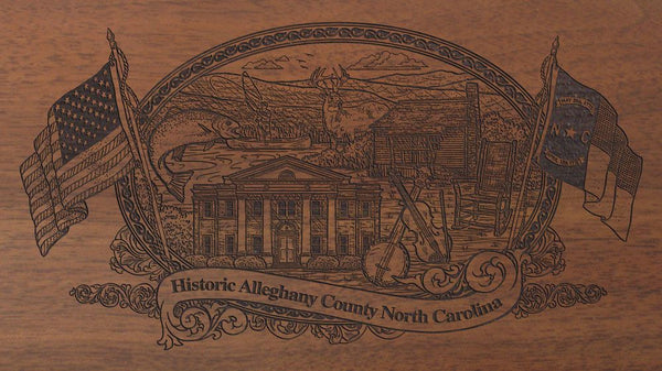 alleghany county north carolina engraved rifle buttstock