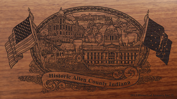Allen County Indiana Engraved Rifle