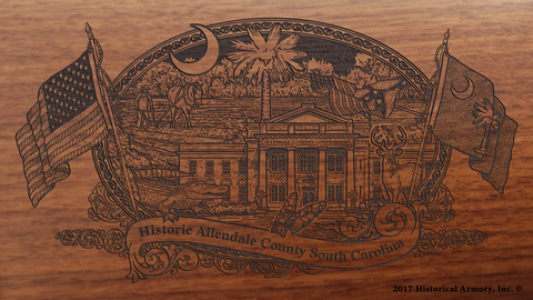 Allendale County South Carolina Engraved Rifle