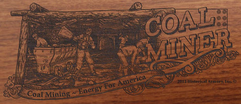 american coal miner engraved rifle bs
