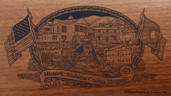 Amherst County Virginia Engraved Rifle Buttstock