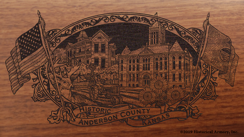Anderson County Kansas Engraved Rifle