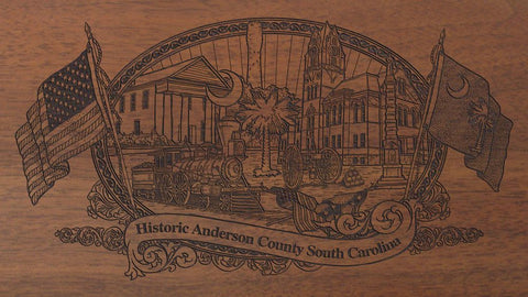 anderson county south carolina engraved rifle buttstock
