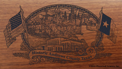 Andrews County Texas Engraved Rifle