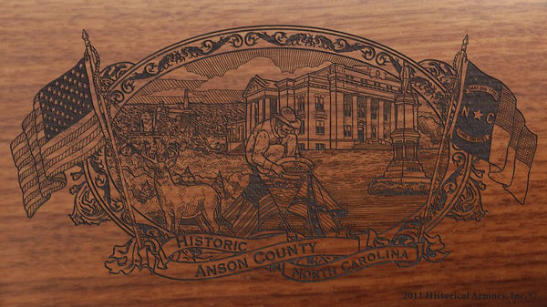 anson county north carolina engraved rifle buttstock