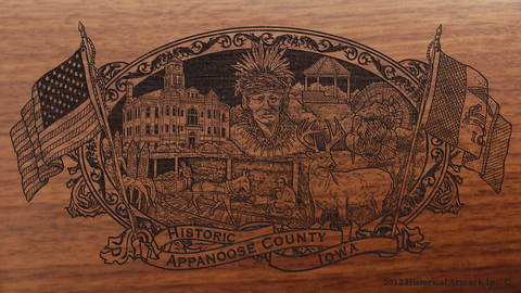 Appanoose County Iowa Engraved Rifle