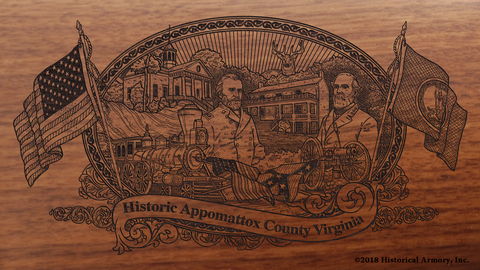 Appomattox County Virginia Engraved Rifle