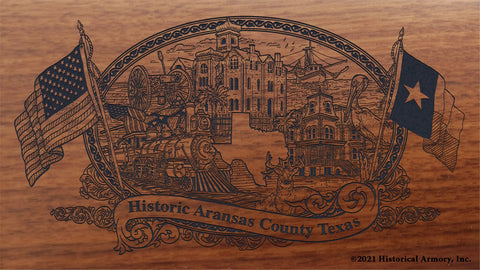 aransas county texas engraved rifle buttstock