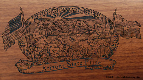 arizona state engraved rifle buttstock