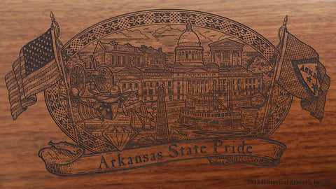 Arkansas State Pride Engraved Rifle