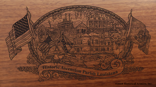 Ascension Parish Louisiana Engraved Rifle