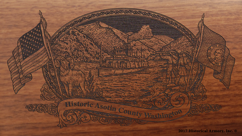 Asotin County Washington Engraved Rifle
