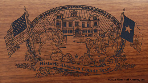 atascosa county texas engraved rifle buttstock