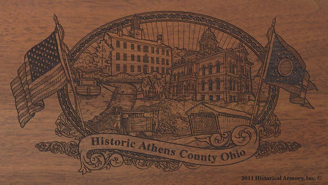 athens county ohio engraved rifle buttstock