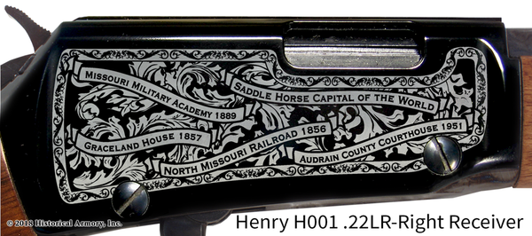 Audrain County Missouri Engraved Rifle