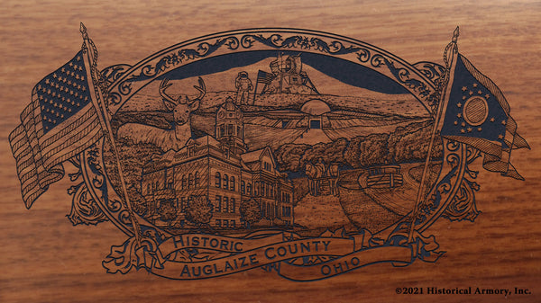 auglaize county ohio engraved rifle buttstock