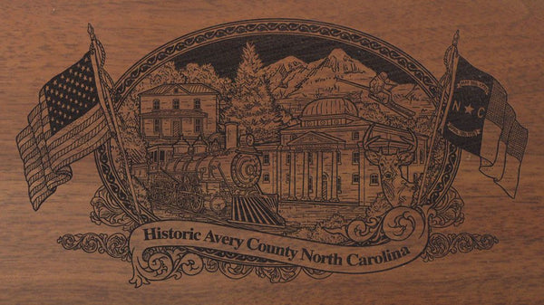 avery county north carolina engraved rifle buttstock