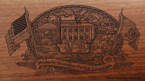 Avoyelles Parish Louisiana Engraved Rifle