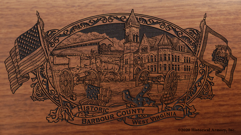 Barbour County West Virginia Engraved Rifle