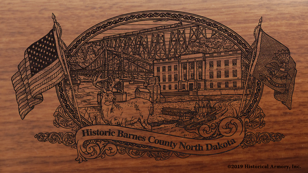 Barnes County North Dakota Engraved Rifle