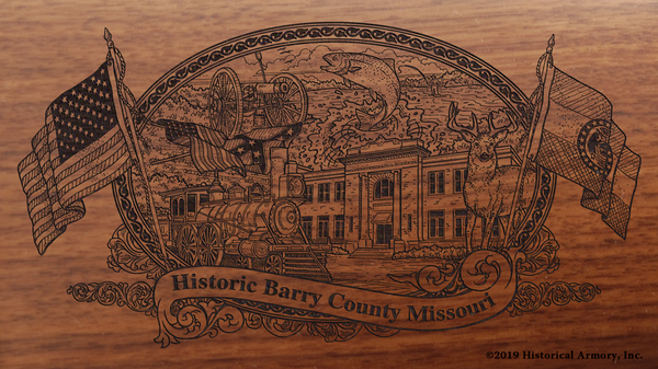 Barry County Missouri Engraved Rifle