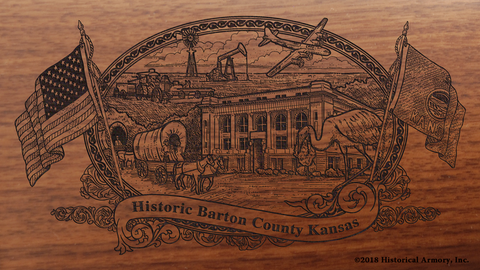 Barton County Kansas Engraved Rifle