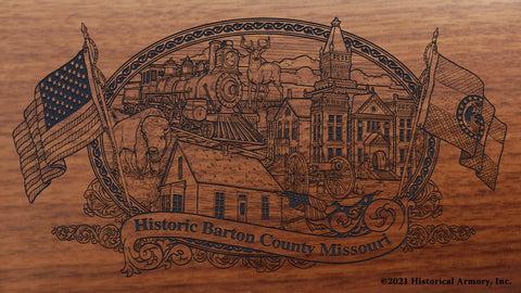 Barton County Missouri Engraved Rifle Buttstock