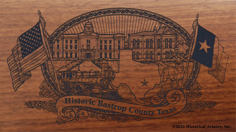 bastrop county texas engraved rifle buttstock