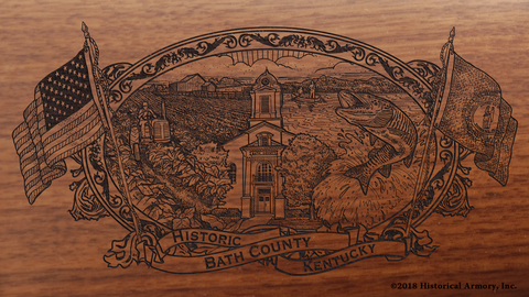 Bath County Kentucky Engraved Rifle