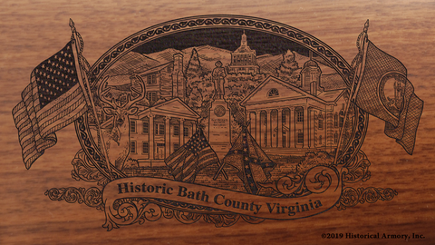 Bath County Virginia Engraved Rifle