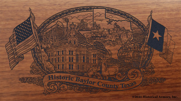 Baylor County Texas Engraved Rifle