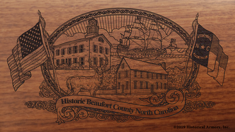 Beaufort County North Carolina Engraved Rifle
