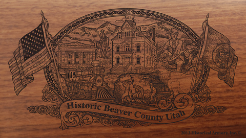 Beaver County Utah Engraved Rifle