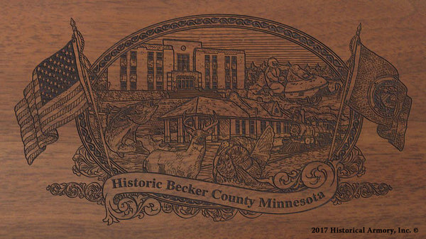 Becker County Minnesota Engraved Rifle