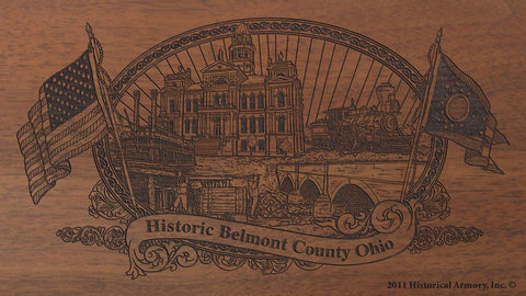 belmont county ohio engraved rifle buttstock