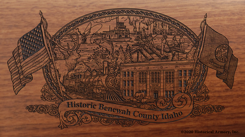 Benewah County Idaho Engraved Rifle