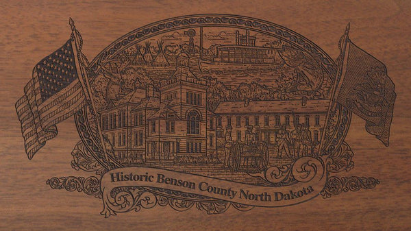 benson county north dakota engraved rifle buttstock