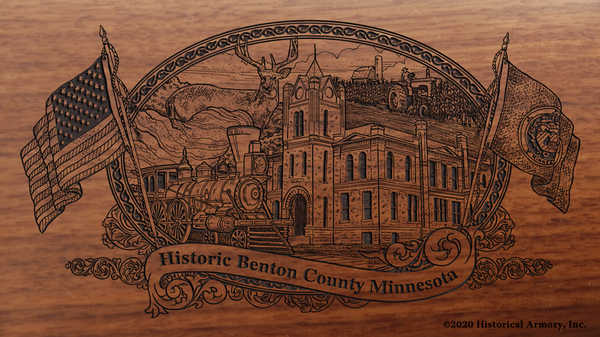 Benton County Minnesota Engraved Rifle