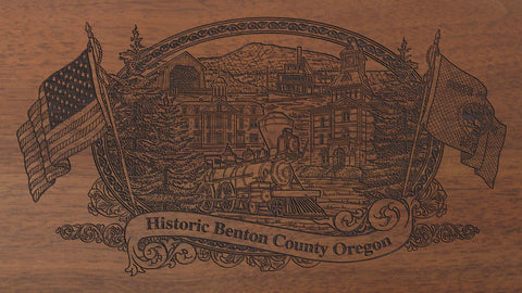 benton county oregon engraved rifle buttstock